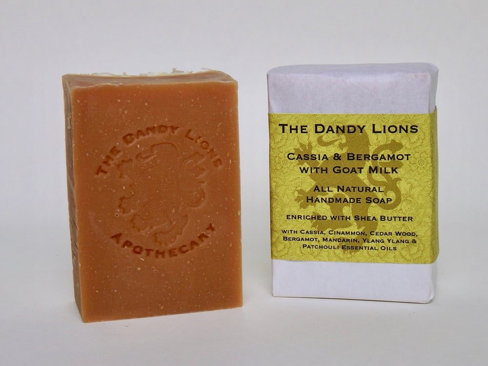 Image of Cassia and Bergamot Soap enriched with Shea Butter and Goats Milk.