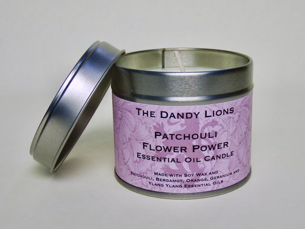 Image of Patchouli Flower Power Essential Oil candle