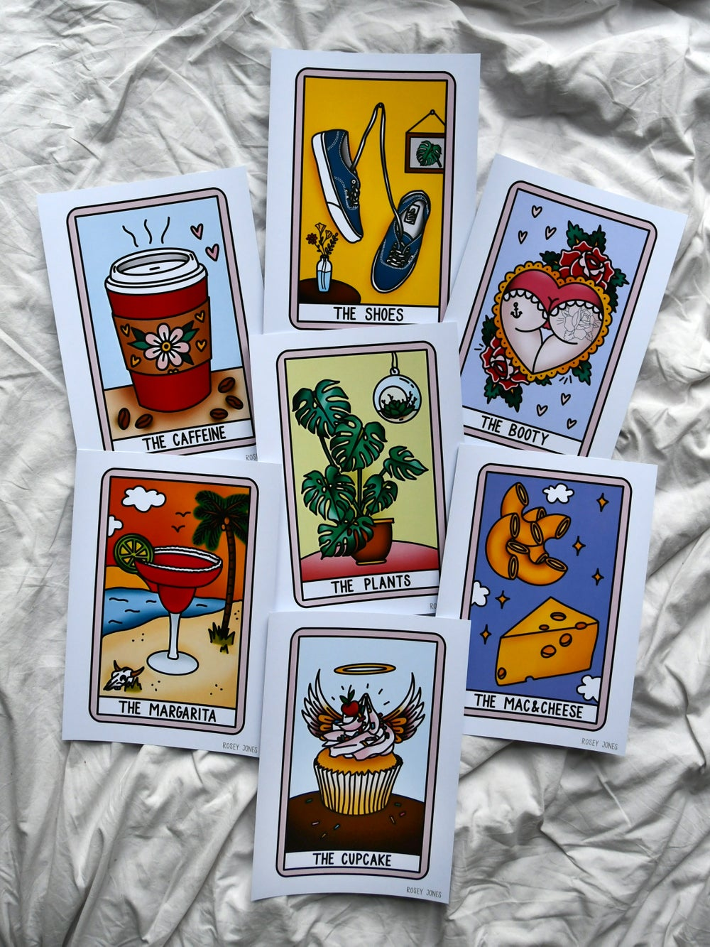 Image of SET OF 4 TAROT PRINTS (A4 SIZED)