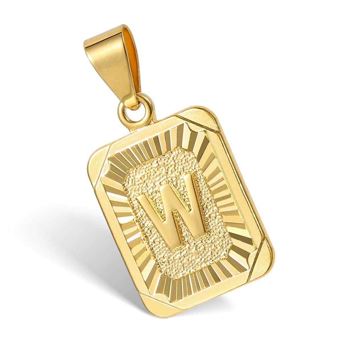 Gold Letter Pendant with Chain (3 weeks for delivery)