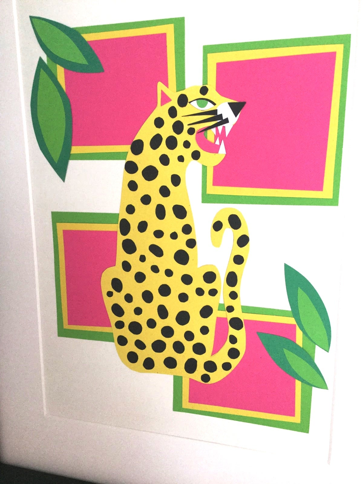 Image of Abstract Leopard A4 Print