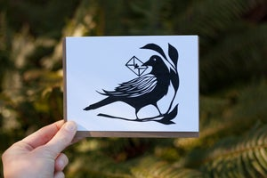 Image of Crow Mail Notecard