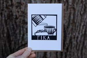 Image of Fika Notecard