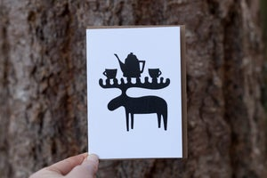 Image of Moose Fika Notecard