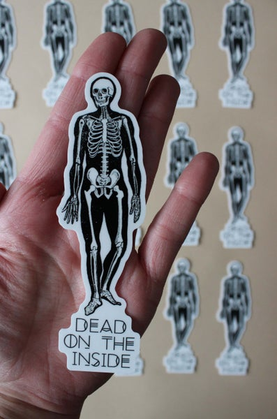 Image of Dead on the Inside Sticker
