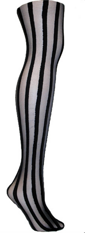 Image of Vertical Stripe Tights