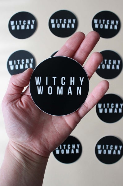 Image of Witchy Woman circle sticker