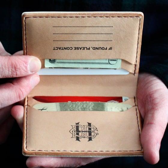 Image of Folding Baseball Leather Card Wallet