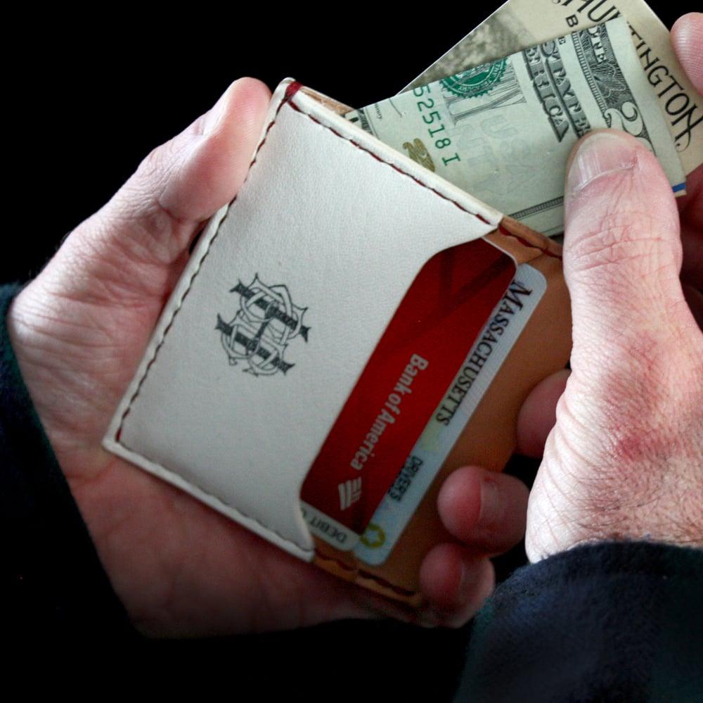 Image of Minimalist Baseball Leather Card Wallet