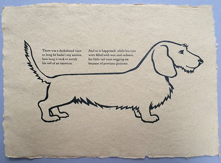 Image of On dachshunds
