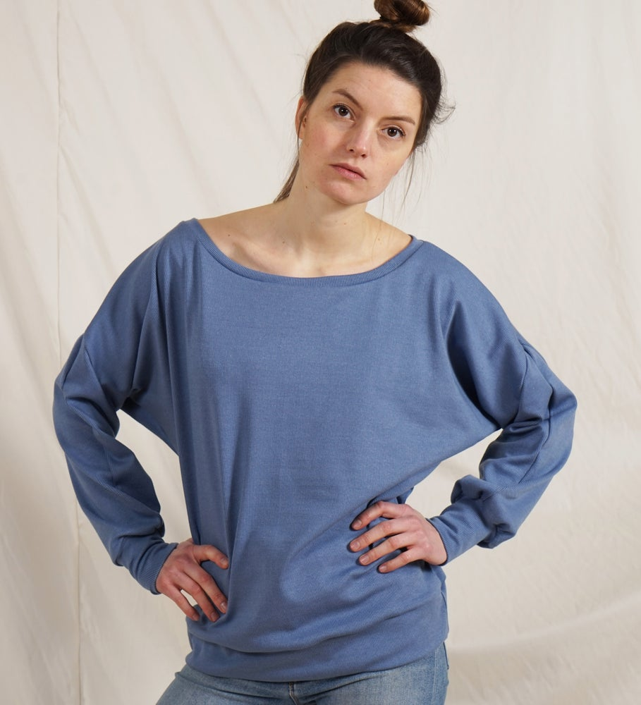 Image of Jacquard Pullover blue