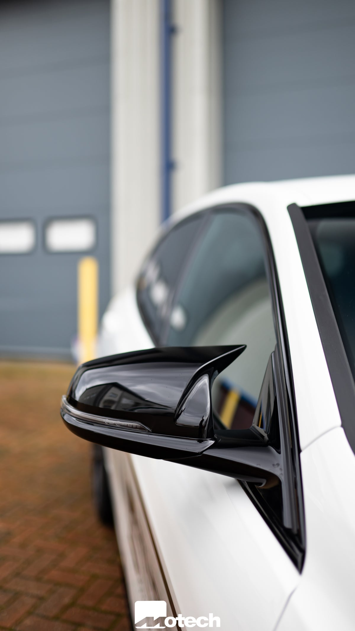 Image of BMW M135i xDrive M Style Gloss Black Mirror Covers (F40)