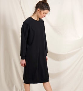 Image of Long Pulli Dress schwarz