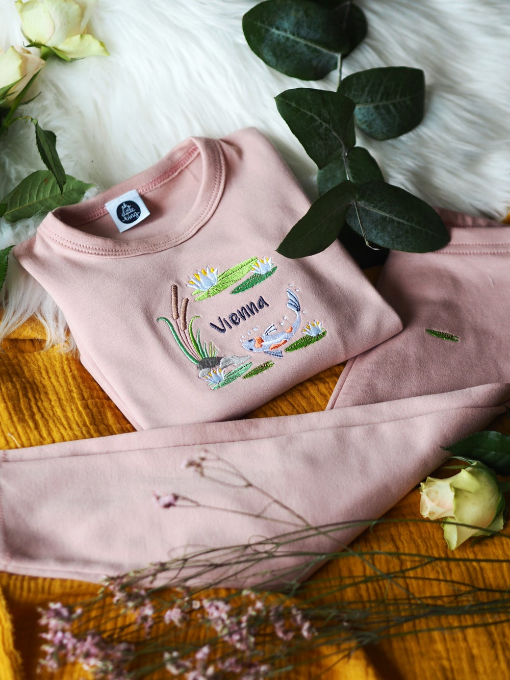 Image of Down By The Lily Pond - Pink Loungewear