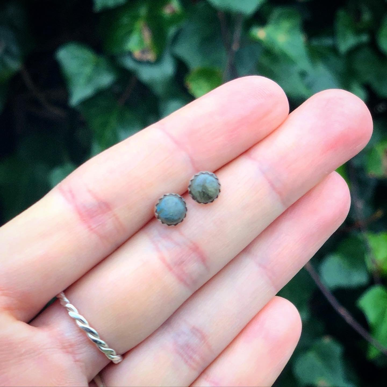 Image of Galaxy Labradorite Stud Earrings