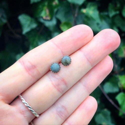 Image of Galaxy Labradorite Stud Earrings