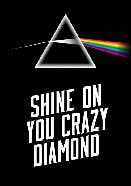 Image of Pink Floyd - 'Shine On You Crazy Diamond' Poster