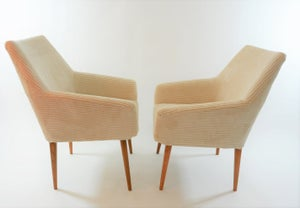 Image of Fauteuils Coquilles ivoires