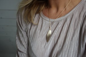 Image of quill necklace (metal options available)