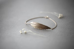 Image of quill bracelet (metal options available)