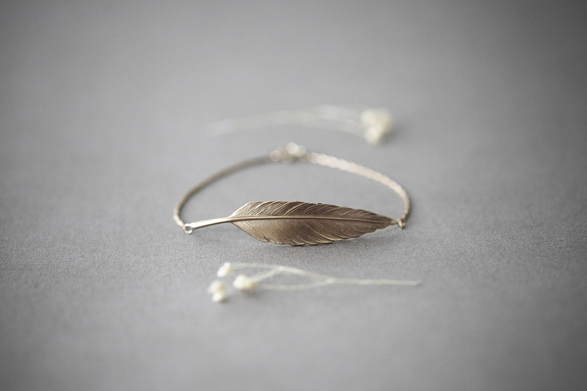 Image of quill bracelet (in silver or 9ct gold)