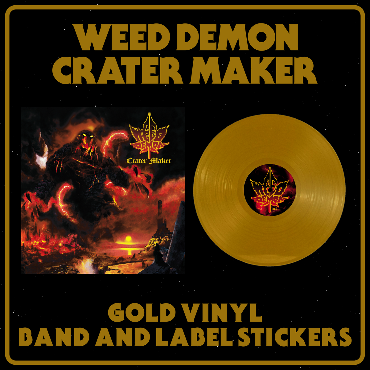 Image of Weed Demon - Crater Maker Gold Vinyl