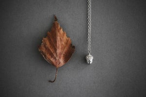 Image of 'mighty oaks' tiny acorn necklace