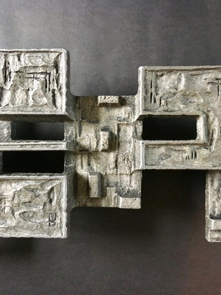 Image of Large Brutalist Aluminium Door Handle or Wall Decoration
