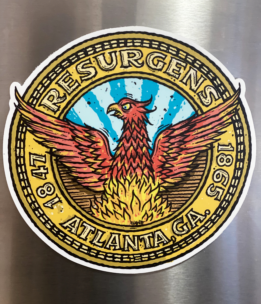Image of Resurgens Atlanta Seal Magnetic Art