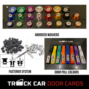 Image of Ford Fiesta MK6 - Perspex Window option- Track Car Door Cards