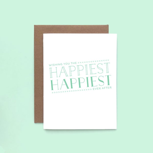 Image of happiest ever after letterpress card