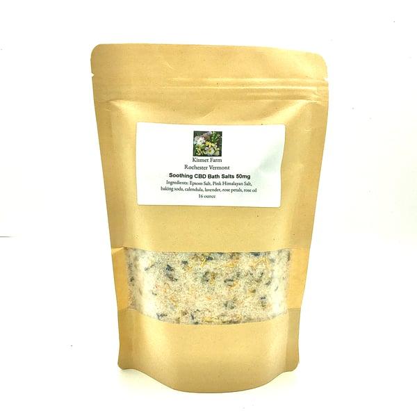 Image of Soothing 50mg CBD Bath Salts