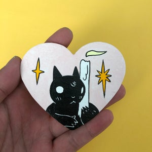 Image of Cat With Candle Valentine