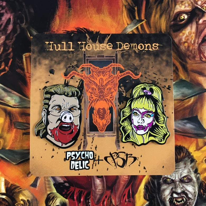 Image of Night of The Demons (Enamel Pin Set) BOTH PINS