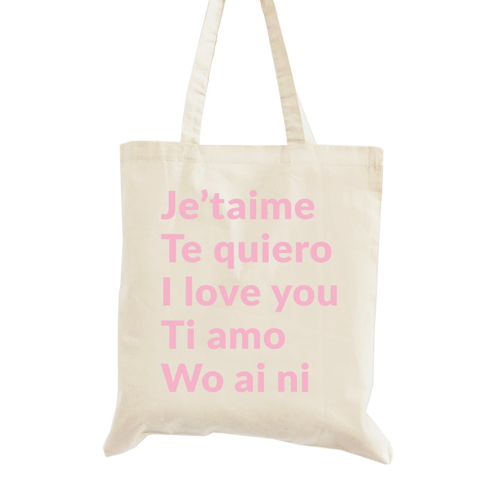 Image of Love Language Wedding Welcome Tote Bag
