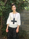 XL Banded Cross Necklace