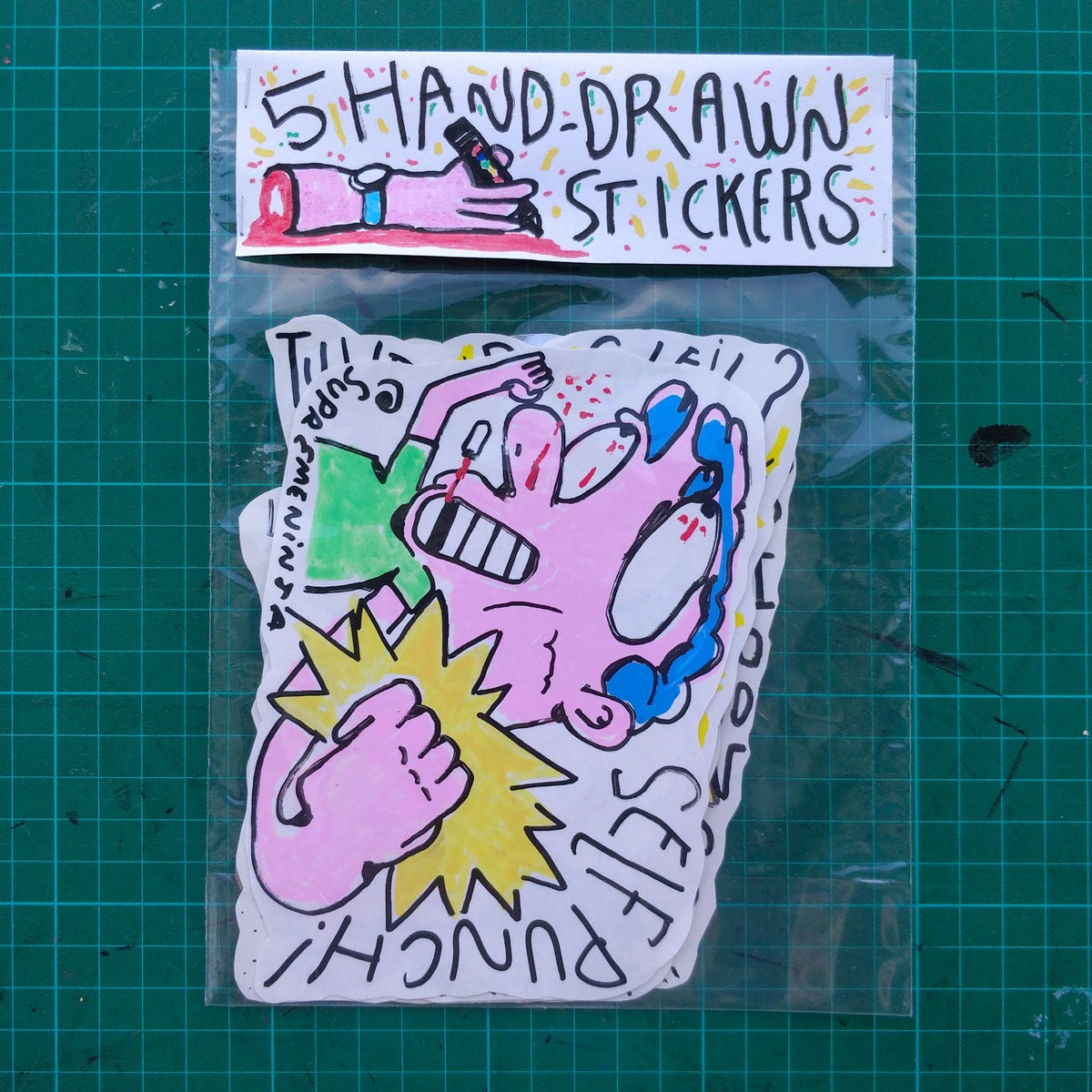 Image of x5 Handmade Stickers #Pack 1#