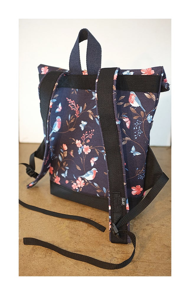Image of Serin  birds-flowers backpack (mom coll.)