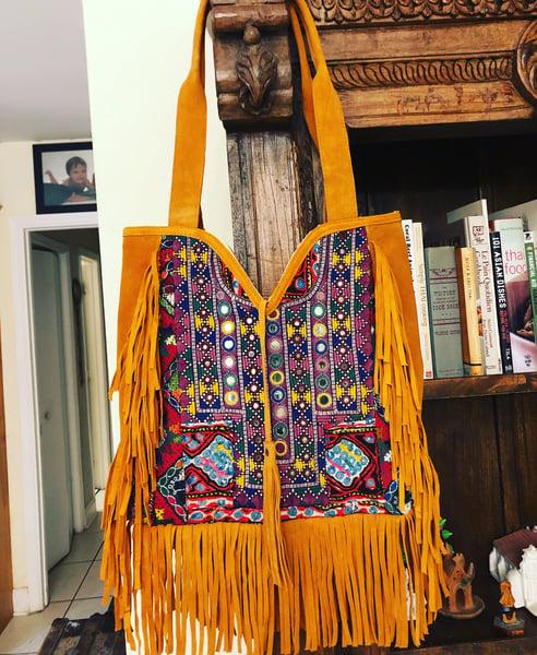 Image of Boho Fringe banjara tote bag