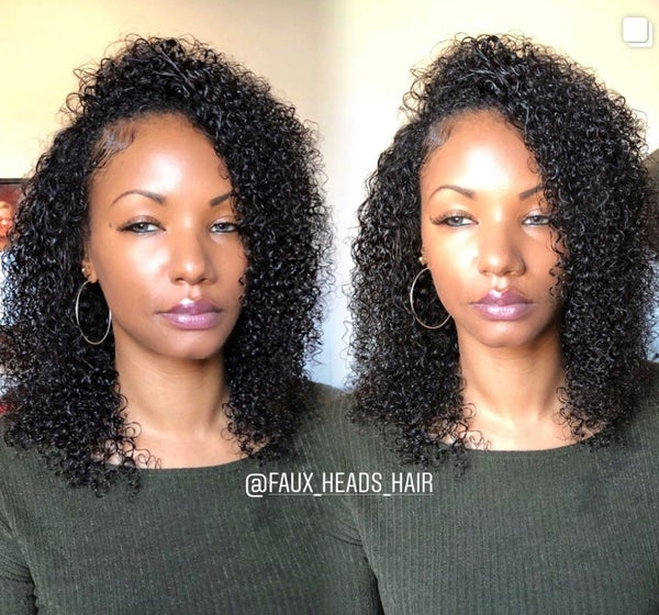 Image of TIGHT CURLY INDIAN HAIR EXTENSIONS