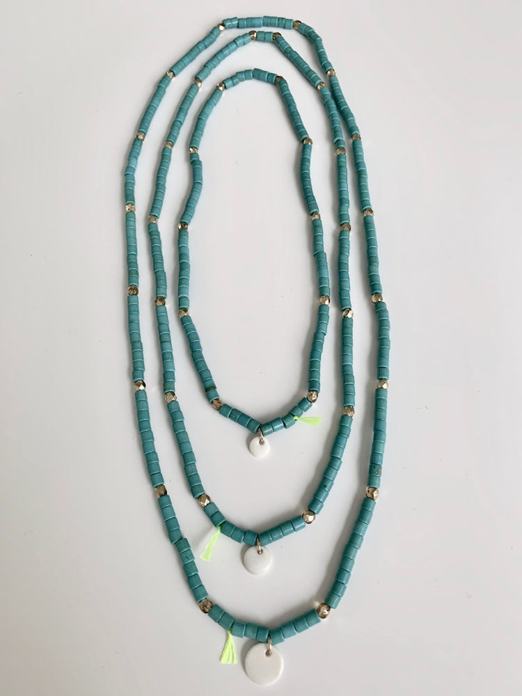 Image of Collier Barbara turquoise