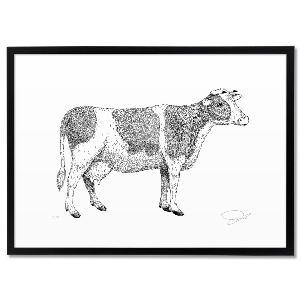 Image of Print: Cow