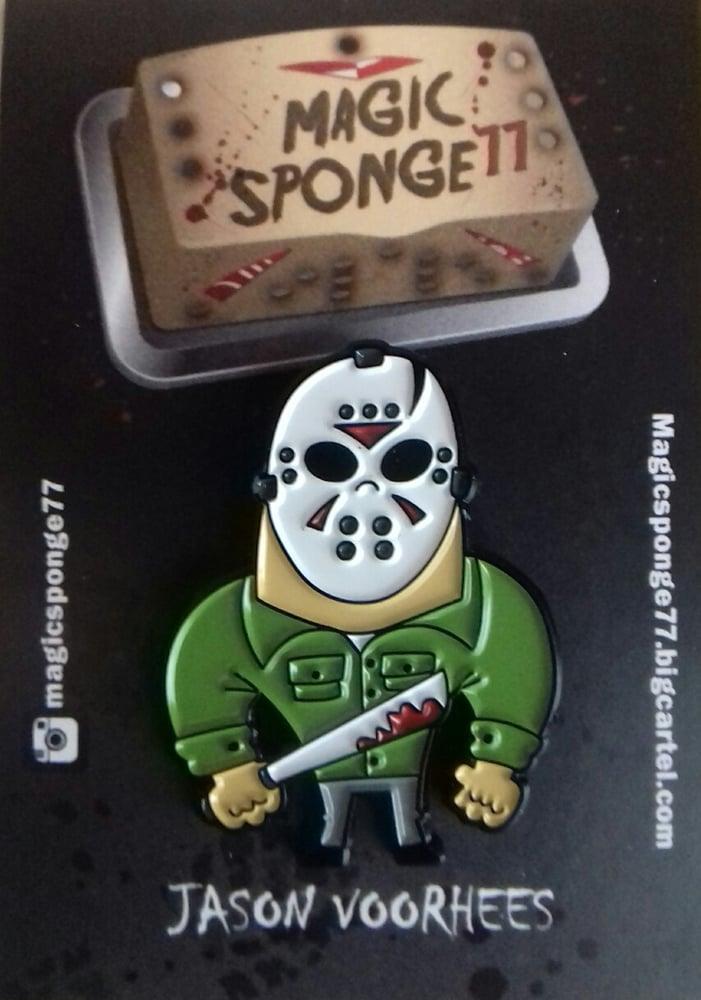 Image of Jason Voorhees Pin.
