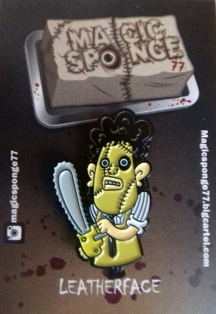 Image of Leatherface Pin.