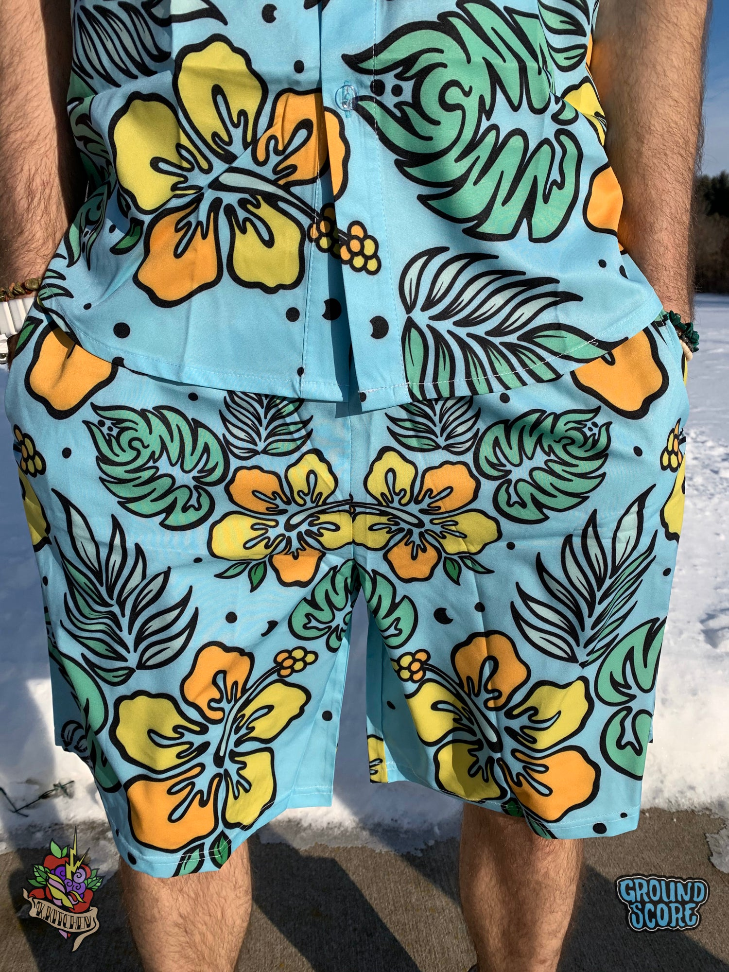 Caribbean Bass - Teal Shorts (LE 50)