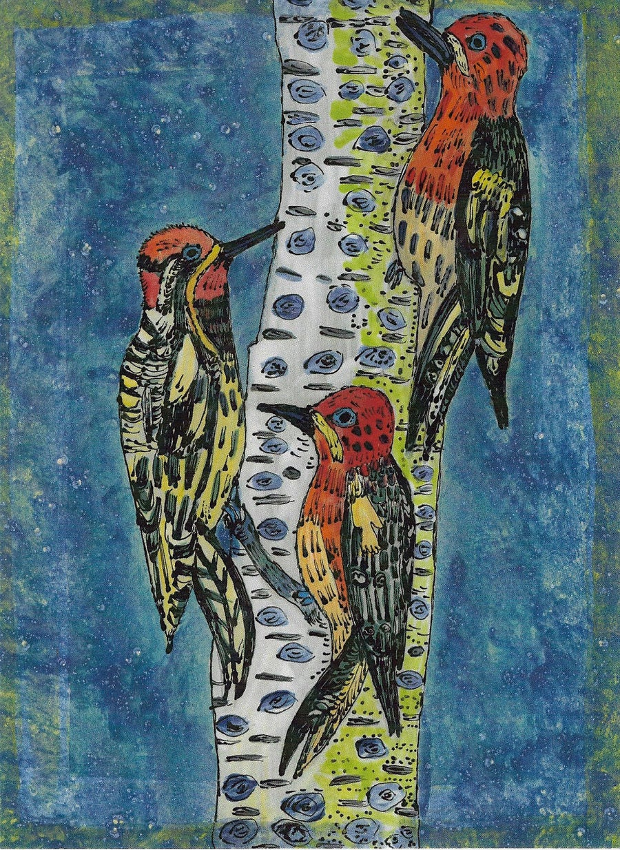 Image of Woodpeckers Card