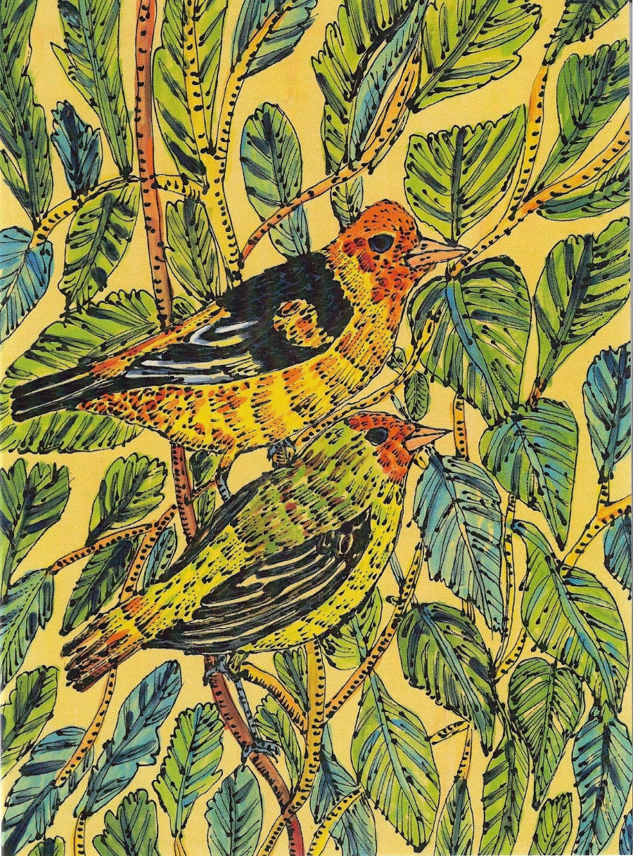 Image of Goldfinches Card