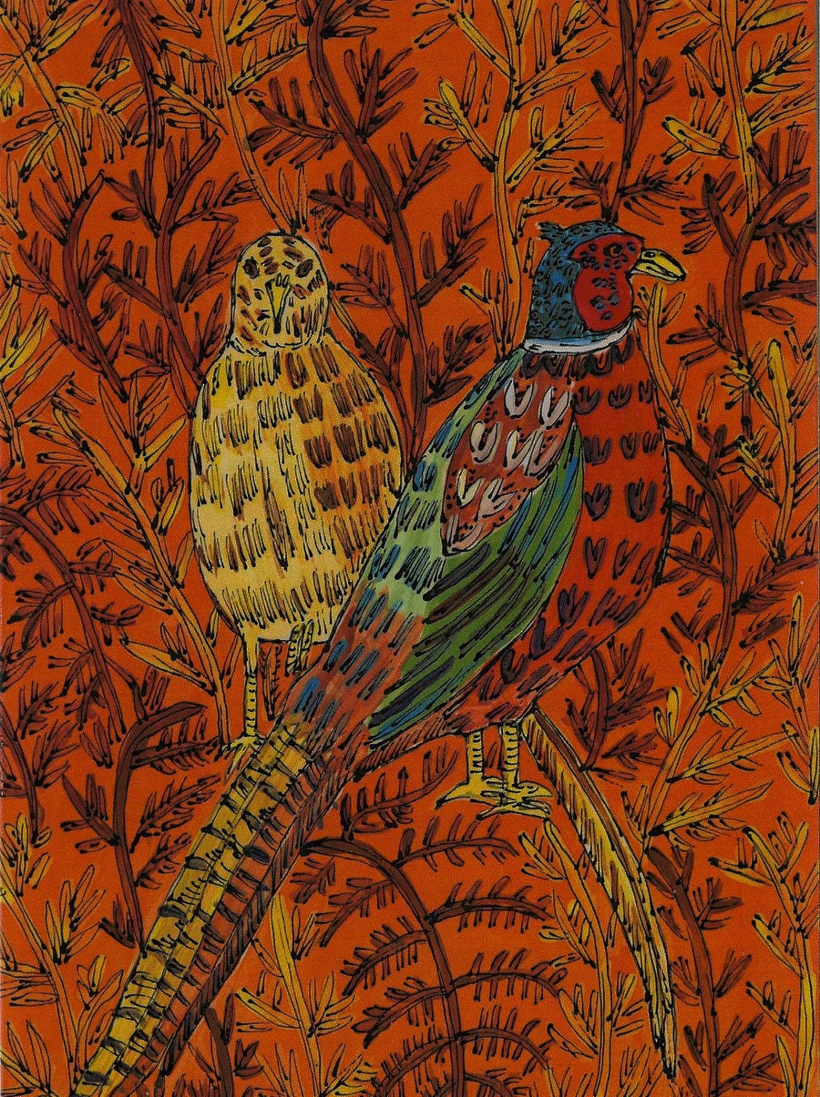 Image of Two Pheasants Card