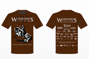 Image of Warhorns 2018 Official Promotional T Shirt
