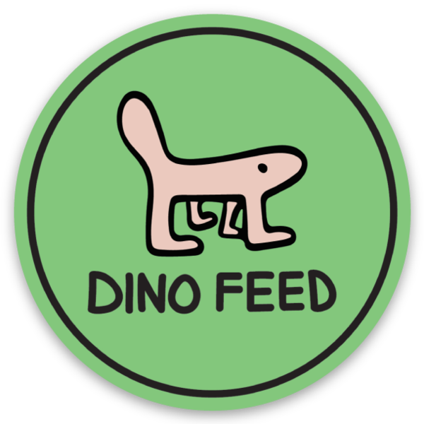 Image of DINO FEED Sticker